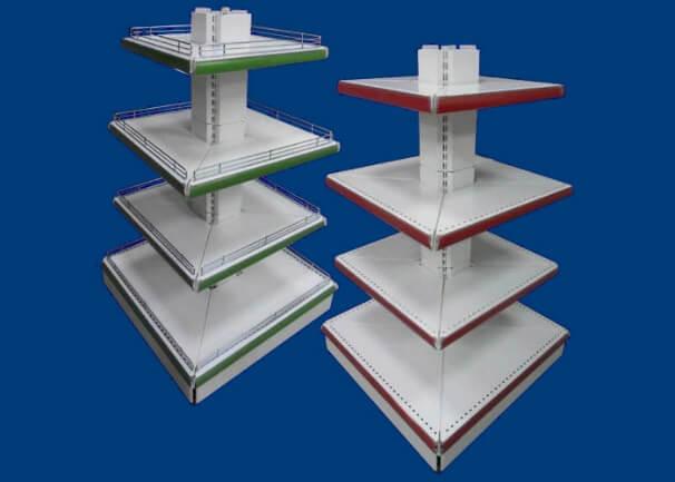 Gondoles îlots carrées