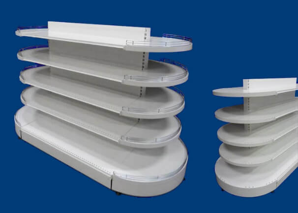 Gondoles îlots ovales