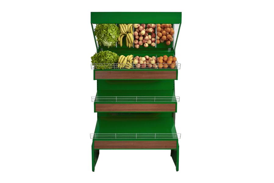 Meuble fruits et légumes avec miroir